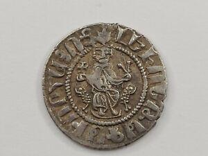 Crusader Era Coin. Armenian Kingdom AR Tram, Levon I, 1199-1219. XF. Sis mint