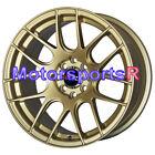 16x8 XXR 530 Gold Mesh Concave Rims Wheels Stance 4x100 4x114.3 4x4.5 Flush +20