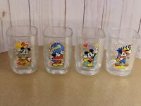 Walt Disney World Millennium 2000 Glass Mickey Mouse McDonald's Set Of 4