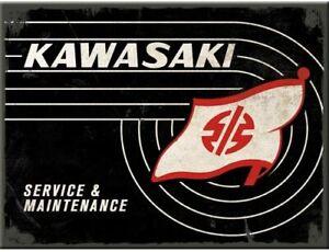 Kawasaki Tank Logo Service & Maintenance metal fridge magnet (na)