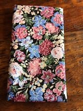 Fat Eighth Black Pink Blue Floral Cotton Quilting Fabric