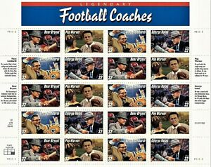 1997 Legendary Football Coaches & Individual 32¢ (5) Sheets MNH SC #3143-50