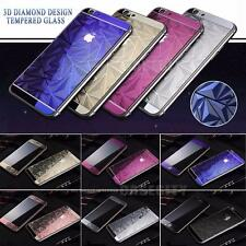 ROSE GOLD 3D MIRROR TEMPERED GLASS FRONT+BACK SCREEN PROTECTOR COVER FOR IPHONE
