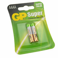 Gp AAAA 1.5v Piles Super Alcalines Mx2500 E96 Lr8d245 Paquet de 2