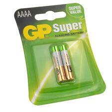 GP AAAA 1.5V Super Alkaline Batteries MX2500 E96 LR8D245 Pack of 2