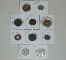 Lot 10 Vintage Foreign Coins 1910-1919~10 Different Countries~in 2x2 holders