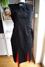 NUOVO senza etichette HEARTS & ROSES H&R Nero Rosso Vampire Goth MATITA bodycone dress 10 12