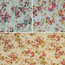 Polycotton Fabric Summer Ditsy Rose Bunches Floral Flowers