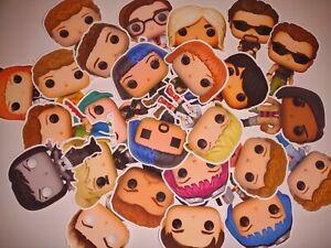 12 Scott Pilgrim vs The World Funko Pop Stickers! Weatherproof!