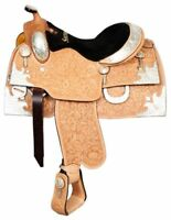 "16"" Western Pleasure Trail Full HANDTOOL SHOWMAN Show saddle silver $1499 + GIFT"