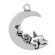 Uomo sulla Luna Collana Con Pendente Bambino, Bracciale o Orecchini. Argento Tibetano Antico