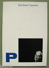 Piet Zwart: Typotekt; Cohen / Ex Libris (New York) 1980 catalogue, 43 items