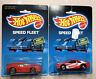Hot Wheels 1986 Ferrari Testarossa & Thunderbird on Speed Fleet Card Lot X2 Cars
