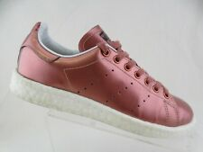 ADIDAS Stan Smith Boost Pink Patent Leather Sz 8 Women Sneakers