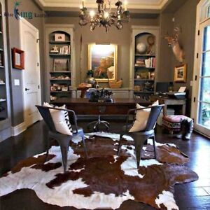 REAL/GENUINE COWHIDE LEATHER RUGS TRICOLOR COW HIDE SKIN CARPET AREA 12-44 SQ FT