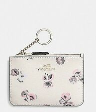 COACH KEY POUCH WITH GUSSET & WILDFLOWER PRINT  NWT