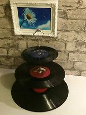 Vintage Retro Vinyl Record 3 nivel Placa de la torta Display Stand-Bodas ~ Regalo-partes
