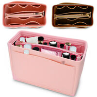 Portable Felt Fabric Purse Handbag Organizer Bag W/ Multi Pocket Insert Large