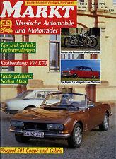 Markt 3/90 1990 AWZ P70 Neander Nimbus Opel Kapitän P VW K70 Peugeot 504 Cabrio