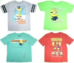 Despicable Me Minions Little Boys  Short Sleeve T-Shirt NWT  Size 4  5/6  or 7