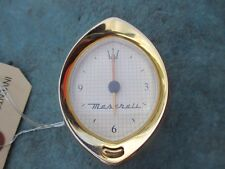 Maserati gold analogue dash clock