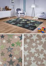 Teppich Kinderteppich Kinderzimmer Kurzflor Hochwertig Sterne Pastellfarben