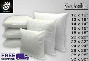 "Inner Cushion Pads Insert Hollowfiber Fillers 12,14,16,18,20,24,26,28,30"" Free S"