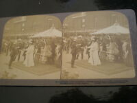 Stereoview photograph Queen Alexandra and S A War Ambulance Corp London 1902