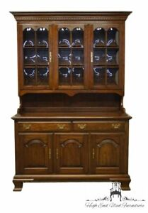 """PENNSYLVANIA HOUSE Solid Cherry Traditional Style 54"""" Buffet w. Bubble Glass ..."""