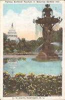 Washington, DC - Bartholdi Fountain - Botanic Gardens - Capitol - 1923