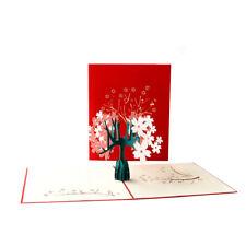 Cherry Blossom Pop Up Greeting 3D Card Gift Birthday Anniversary Valentine