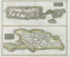 Puerto Rico & Virgin Islands. Haiti, Hispaniola or St. Domingo. THOMSON 1830 map