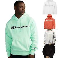 Champion Life Men's Reverse Weave Pullover Hoodie Mesh & Leather Logo