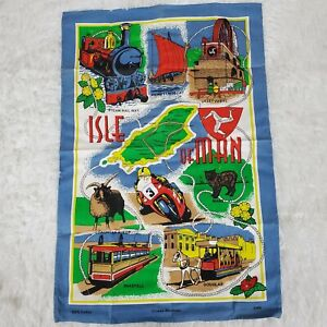 "Isle Of Man Cotton Tapestry Wall Hanging 19""x29"""
