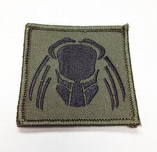 "Military Morale Patch Predator Face Scifi Aliens 2.25"" Hook&Loop New #32936"