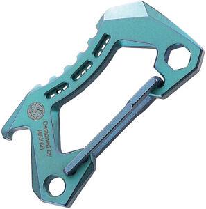 Bestech Knives Bestechman Blue Titanium Carabiner w/ Bottle Opener M15B