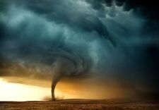 Tornado Nature - Weather Wild Landscape Wall Art Poster / Canvas Pictures