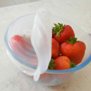 Neat Ideas Stretch & Fresh Silicone Lid 4 Piece Set For Fresh Food Storage Eco