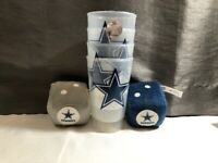 New NFL Dallas Cowboys Plush Fuzzy Hanging Dice & Set of 4 Star Plastic Tumblers