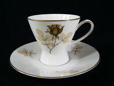 Rosenthal Form 2000 Schattenrose Kaffeegedeck 2tlg. mit Goldrand