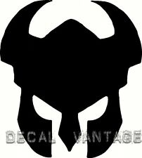 Warrior Helmet Vinyl Sticker Decal Viking Knight Medievil - Choose Size & Color