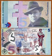 Kamberra, 5 Numismas, 2013, UNC > Jean Moulin, George Patton > Upgraded