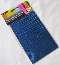 Nuevo 260 PLAZAS AUTOADHESIVO CRISTAL ESPEJO azulejos mosaico ARTE Arte 7MM Sil Azul