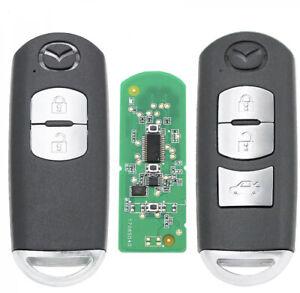 Mazda Smart Key and Remote for 3, 6 CX-3 CX-5 CX-9 2012-2020 fits 2 & 3 button