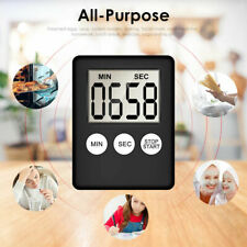 Large Kitchen Cooking LCD Digital Timer Count Down Up Clock Loud Alarm Magnetic