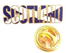Scotland Worded Saltire Enamel Lapel Pin Badge T1111