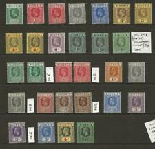 NIGERIA Identified Collection of 37 KGV Stamps Fine MINT