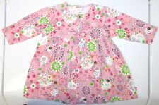 EUC Infant Girls Size 6 -  12 Months Zutano Baby Floral Pink Front Button Dress