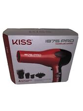 Kiss 1875 Pro Tourmaline Ceramic Hair Blow Dryer - Model KBDO1WM Red Open Box