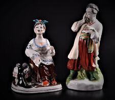 """Russische Porzellanfigur Frau Mann Russland Kosake Ukraine """" Solocha und Wakula"""""""